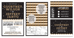 Courtney and Jeffrey's invites and R