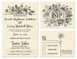 Sarah and Corey wedding invite