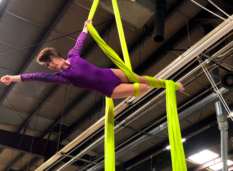 Our March Artist of the Month is aerial artist, Leah Grandstaff!