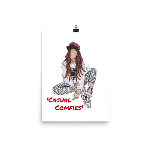 'Casual Comfies' Poster