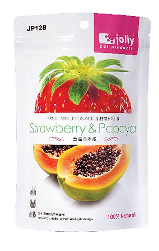 Jolly Dried Strawberry & Papaya Treats (20g)