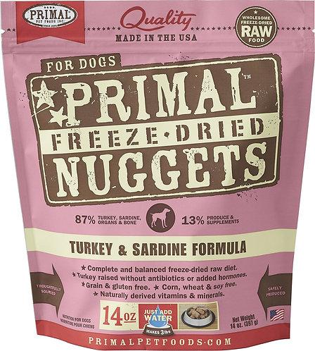 Primal Raw Freeze-Dried Canine Turkey and Sardine 14oz