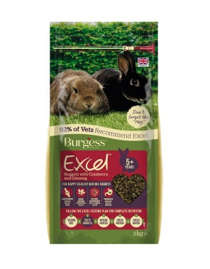 Burgess Excel Mature Rabbit with Cranberry and Ginseng 2kg
