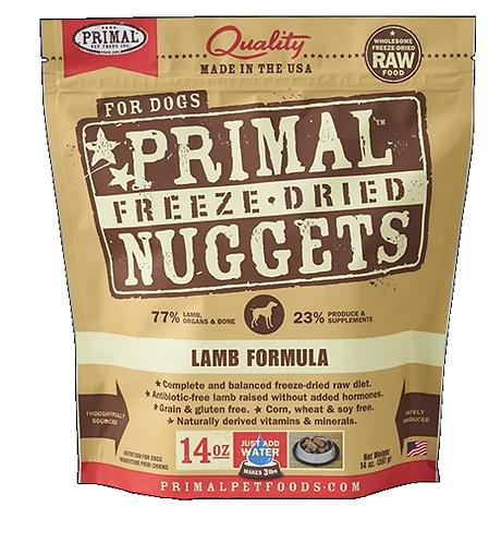 Primal Raw Freeze-Dried Canine Lamb 14oz