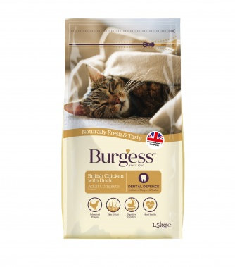 Burgess Adult Cat Chicken & Duck 1.5kg