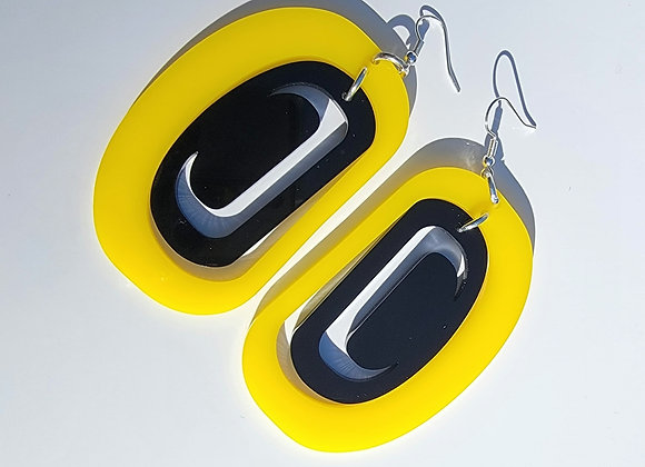 Yellow and Black Crescents