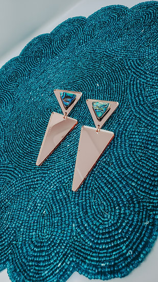 Rose-gold Arrow and Abalone