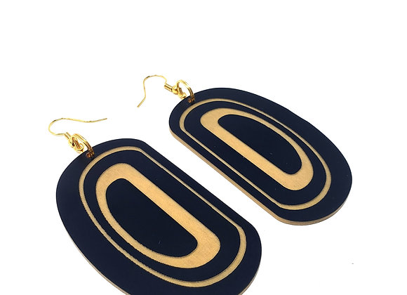 Black and Gold Ovoid