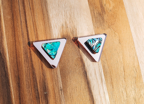 Rose-gold Abalone Arrow Post