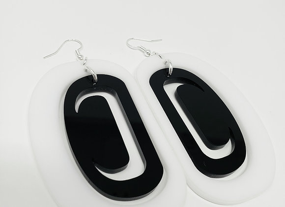 White Ovoid with Black Ovoid Crescent