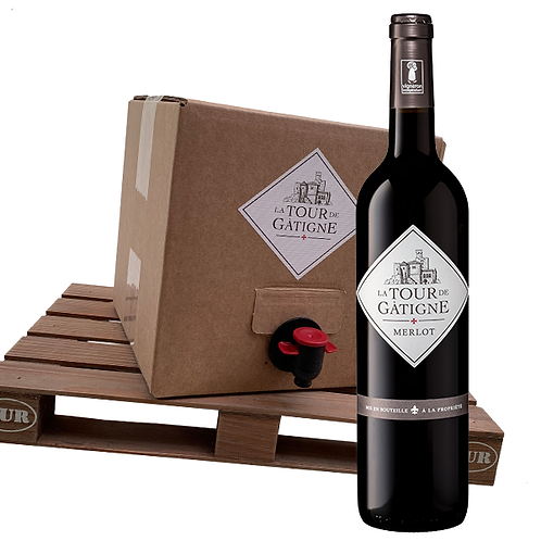 Merlot - IGP Cévennes  - Bag-In-Box 5 liter
