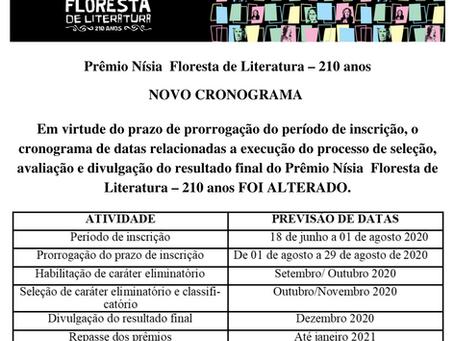 Prêmio Nísia Floresta de Literatura - 210 anos - NOVO CRONOGRAMA