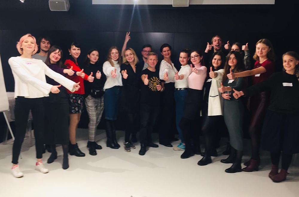 Фото с участниками школы в 2019 году.