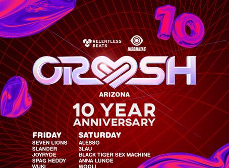 CRUSH Announces Full Lineup for 10 Year Anniversary