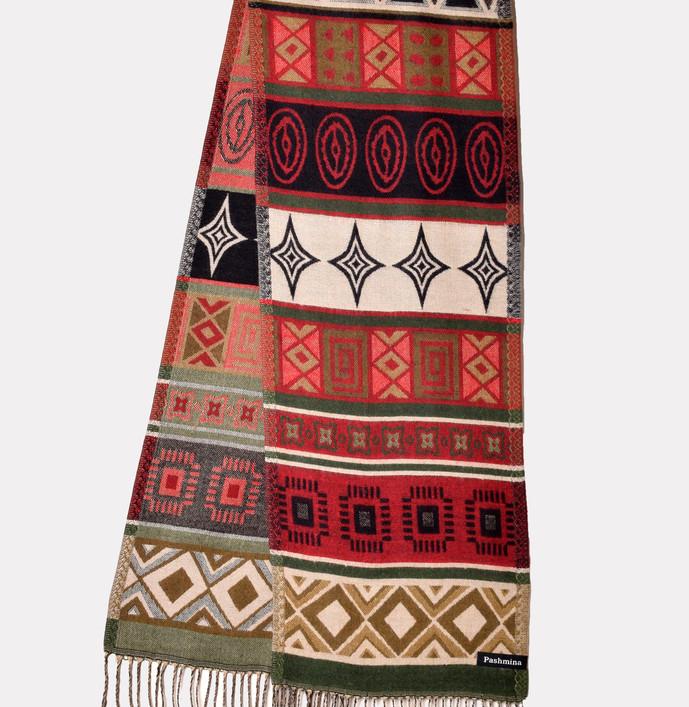 """multicolor gorkha design 13"""" X 72"""""""