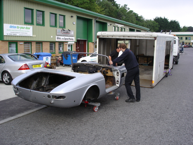 The chassis being sent to the bead