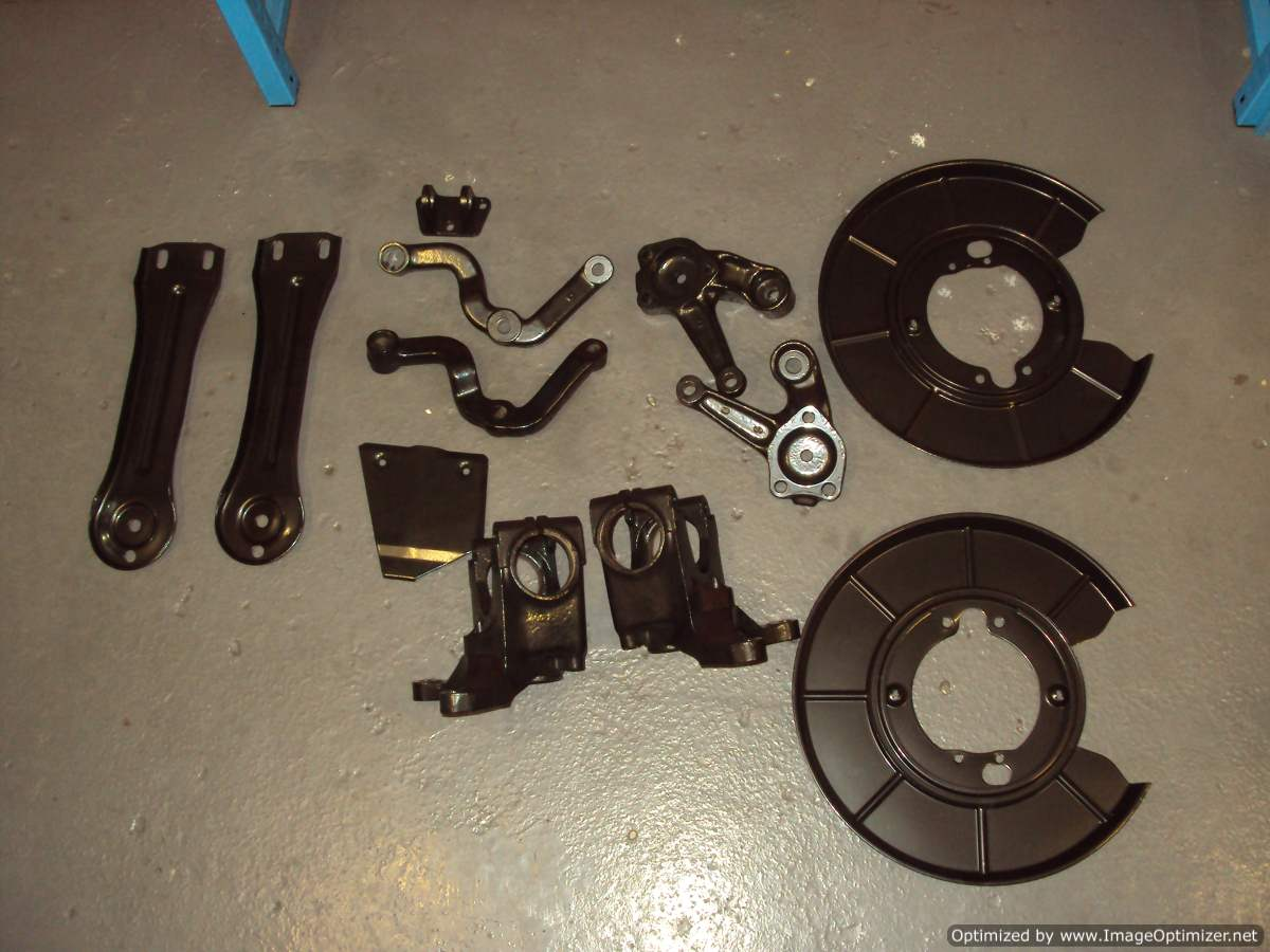 Suspension parts after
