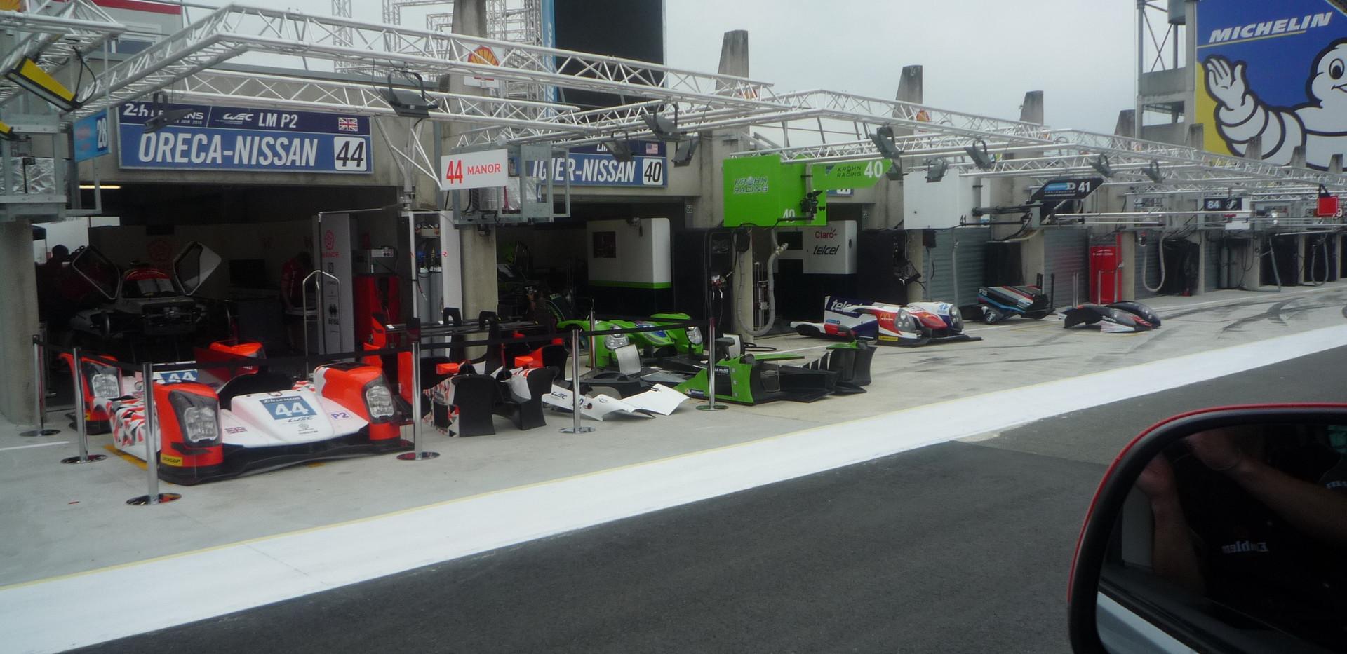 Pits at Le Mans