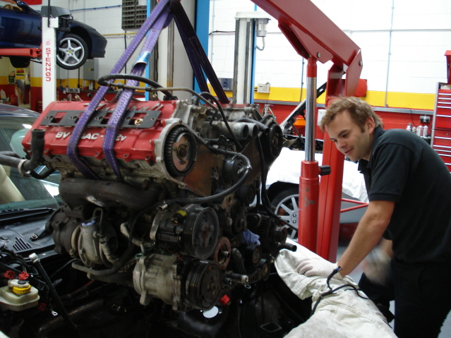 Removing the engine