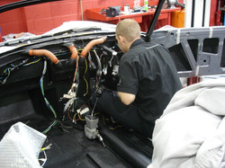 Fitting new wiring loom