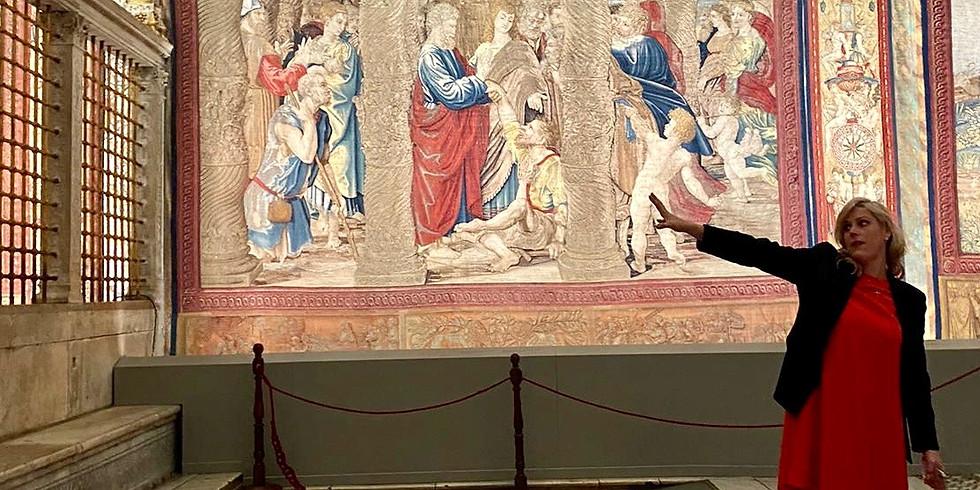 The Sistine Chapel: conclaves, tapestries, & more cool stories!  A Premium Virtual Vatican Visit.