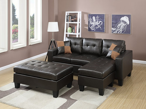 F6927 3Pcs Sectional Espresso