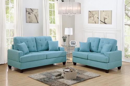 F6502 2Pc Sofa & Loveseat w/4 Pillows