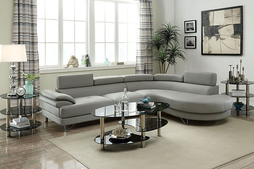 F6984 2Pc Sectional Light Grey