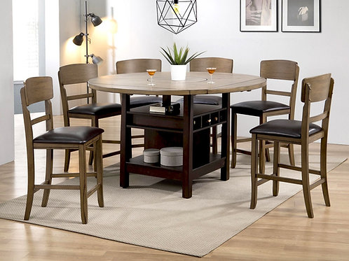 Conner Walnut CH Dining Set