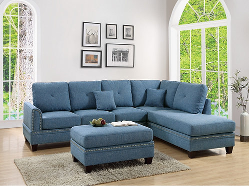 F6512 2Pc Sectional Sofa w/2 Pillows