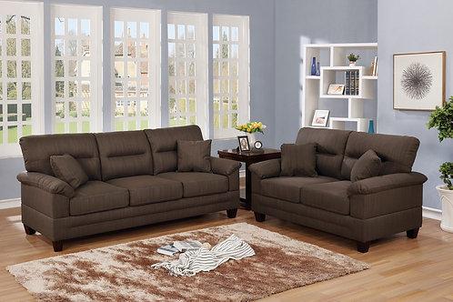 F6406 2Pc Sofa & Loveseat w/4 Pillows