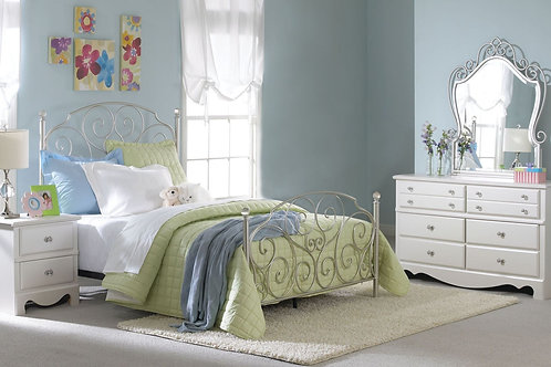 5Pc Spring Rose 502 Twin Bedroom Set