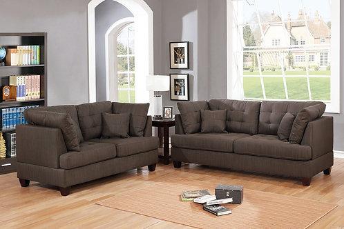 F6402 2Pc Sofa & Loveseat w/4 Pillows