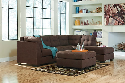 Ashley 452 Sectional - Walnut