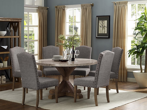 Vespa Marble Round Dining Set