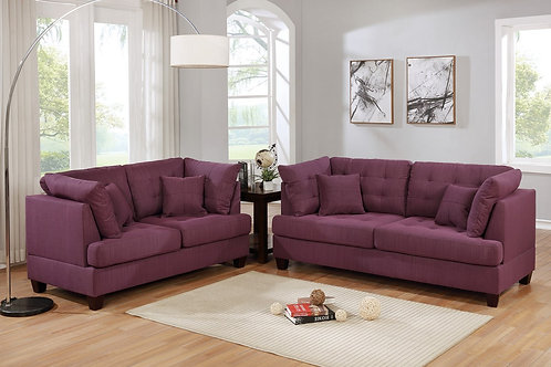 F6403 2Pc Sofa & Loveseat w/4 Pillows