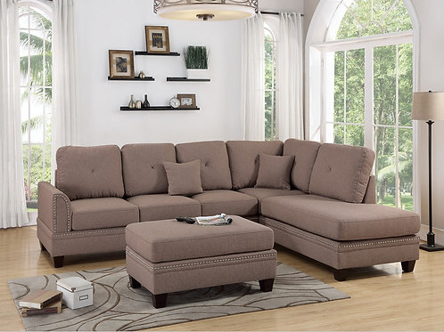 F6513 2Pc Sectional Sofa w/2 Pillows
