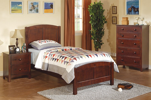 F9207 4Pc Cherry Twin Bed
