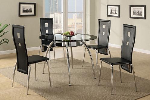 F2211 Black 5Pc Dining Set