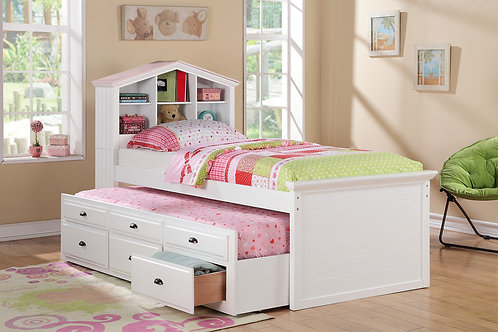 F9223 White Twin Bed w/Trundle