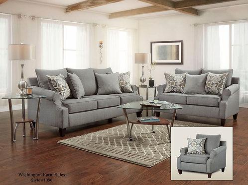 1090 Grey Sofa & Loveseat
