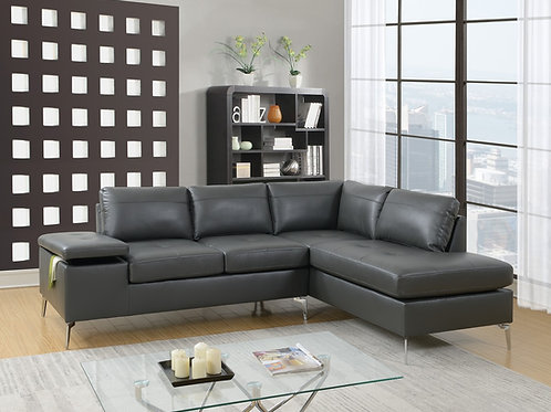 F6520 2Pc Sectional Grey