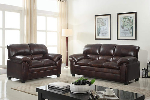 Parker Sofa and Loveseat Set (Brown)