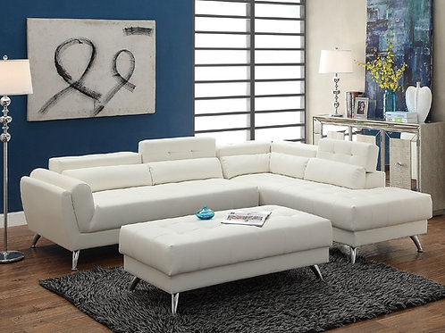 F6977 2Pcs Sectional White