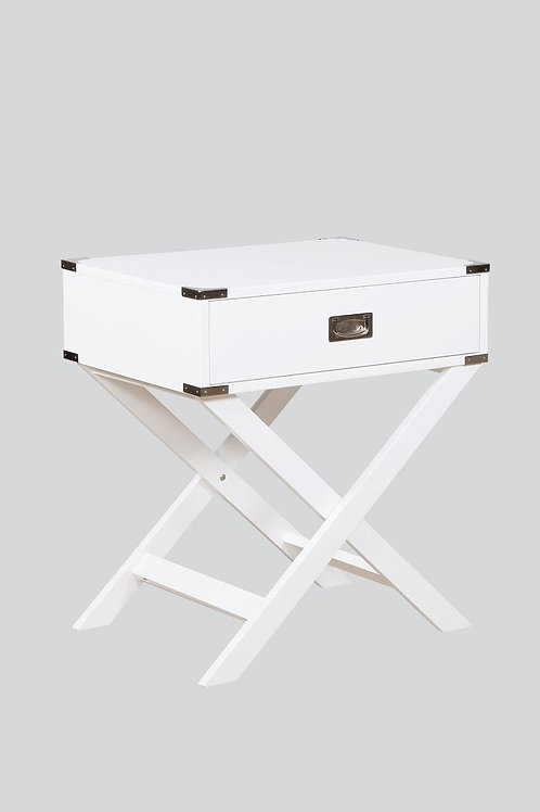 Hudson Wh Chairside Table