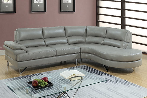 F6570 2Pc Sectional Grey