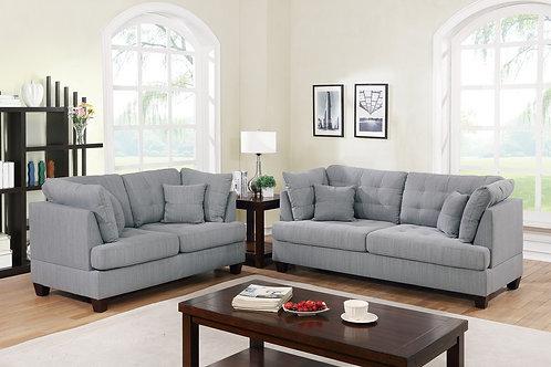 F6401 2Pc Sofa & Loveseat w/4 Pillows