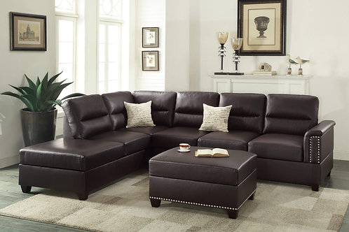 F7609 3Pc Sectional Espresso