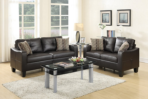 F6921 2Pc Sofa & Loveseat w/4 Pillows