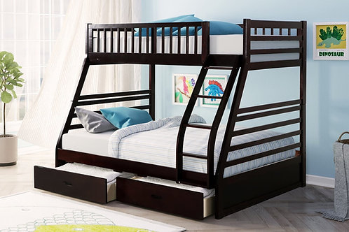 HH20Twin Over Full + 2 Drawers Bunk Bed